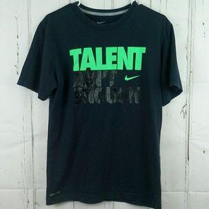 Nike Dri-Fit T Shirt Talent Ain't Enough Black SM